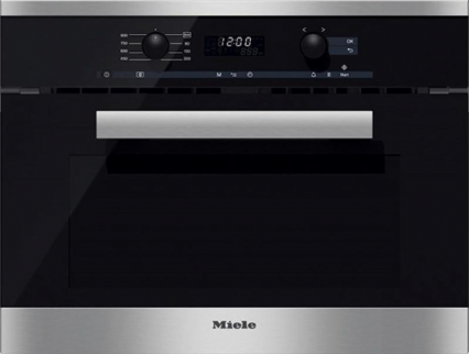 MIELE M6260 TC Built-in microwave oven with top controls | Clean Steel
